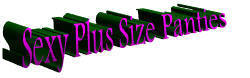 Plus Size Panties, Plus Size Undies, Plus Size Underwear, Plus Size Thongs, Plus Size G-Strings & Plus Size Lingerie!