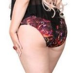 S0718FL Plus size two piece shinymetallic print swim set is fully lined and features a sexy halter topwith semi sheer mesh flounce to cover the tummy and full back bikinibottom.